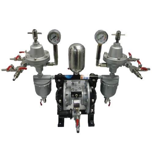 四分气动隔膜泵配稳压阀|油漆过滤器
